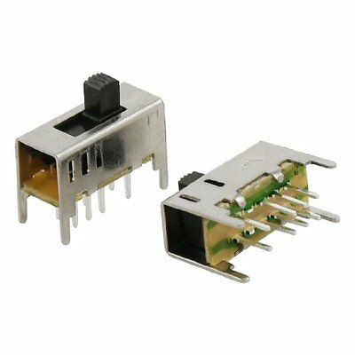5Pcs 3 Position On/On/On 2P3T DP3T Vertical Slide Switch 8Pin PCB DIY