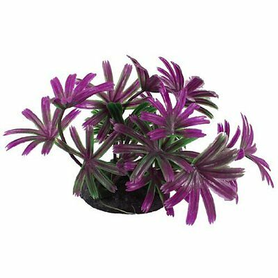 "2.4"" Height Purple Green Leaves Aquarium Simulation Aquatic Plant Decoration"