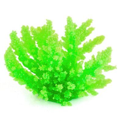 Sourcingmap Fish Tank Emulational Coral Ornament Water Plants, Bright Green
