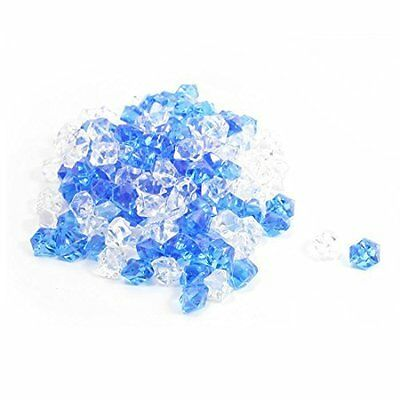 Plastic Aquarium Ornament 150Pcs Crystal Stones Clear Royal Blue