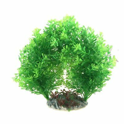 sourcingmap Fish Tank Arch Style Water Plants Decor, 8.3-inch, Green