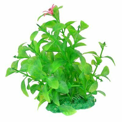 Sourcingmap Plastic Flower Accent Fish Tank Water Plants, Green