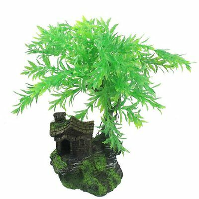 Sourcingmap Fish Tank Tree Shape Artificial Plant Ornament, Green