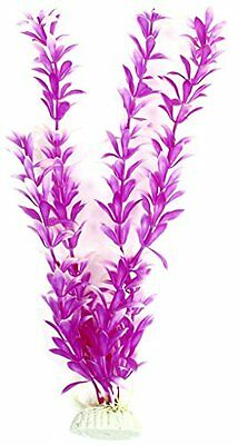 Sourcingmap Plastic Aquarium Emulational Plant, 11-inch, Purple/ White