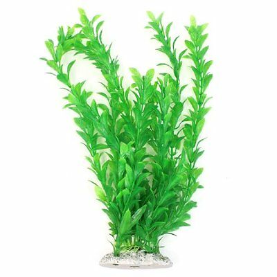 "13"" High Aquarium Ornament Green Plastic Aquatic Water Plant"