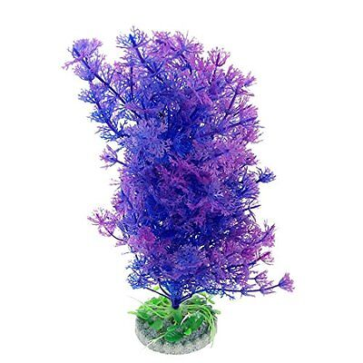 Sourcingmap Plastic Fish Tank Plant Floating Grass Ornament with Ceramic Base, P