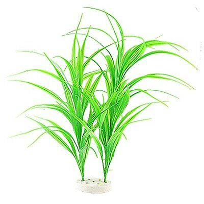 Sourcingmap Plastic Aquarium Fish Tank Plant Grass Decor, Green