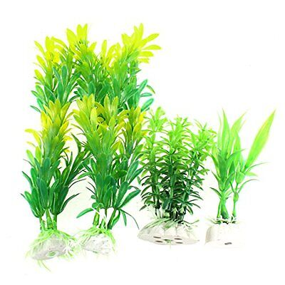 Sourcingmap Plastic Fishbowl Fish Tank Artificial Aquarium Plant Grass Decor, 4