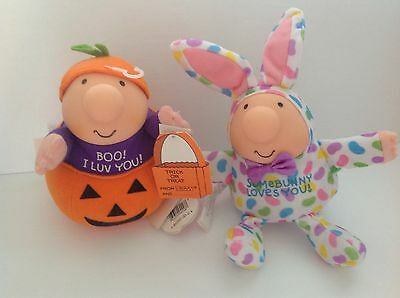Lot Of 2 ZIGGY Little Plush W/ Tag Like New Condition ~ Halloween Easter