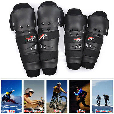 4x Outdoor Motorcycle Equipment Pads Knee Elbow Protector Guard Leg Protection