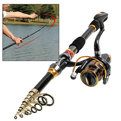 Spincasting Fishing Rod and Reel Bass Freshwater Spinning Fishing Tackle Combos