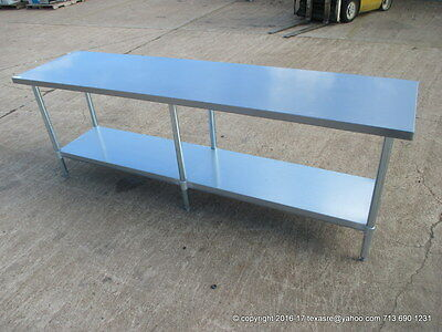 "New Stainless Steel Work Prep Table 96"" x 24"" , NSF"