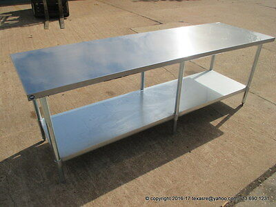 """New Stainless Steel Work Prep Table 96"""" x 30"""" , NSF"""