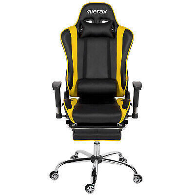 Merax High Back PU Leather Erogonomic Racing Chair Gaming Office Computer Desk