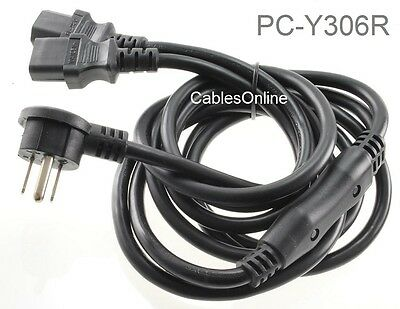 6ft Right-Angle NEMA 5-15P to 2x IEC-320 C-13 3-Prong AC Power Y-Splitter Cable