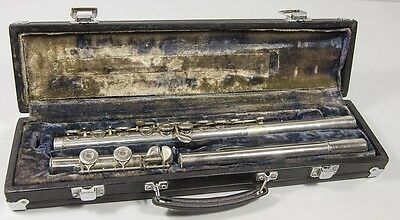 Westminster Besson Silver Flute in Case. Good Condition as Photographed
