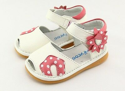 Freycoo Genuine Leather Kids Girls Shoes Sandals 6230GN sz 5 6 7 8 9 10
