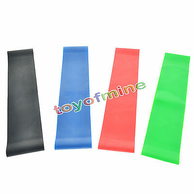 4X Resistance Band Loop Exercise Crossfit Strength Training Gym Fitness