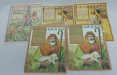 Vintage Lot of Henrietta Gambill Pict-O-Graph Bible Story cutouts, figures, felt