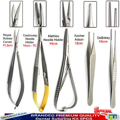 Microsurgery Kit Noyes Micro Scissors Castroviejo Methieu Needle Driver Tweezers