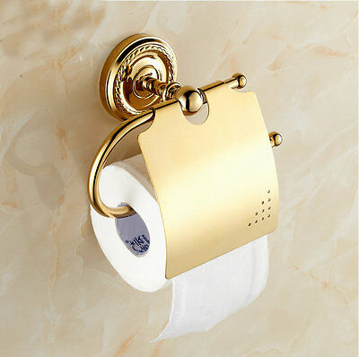 Bathroom Tissue Holder/toilet Paper Holder Solid Brass Wall-mounted