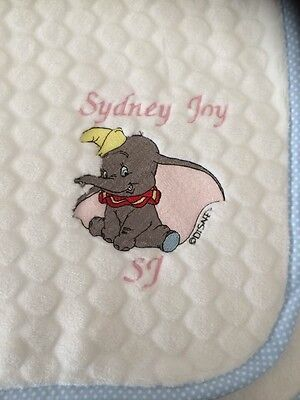Personalised Super Soft Bubble Fleece Baby Blanket Dumbo