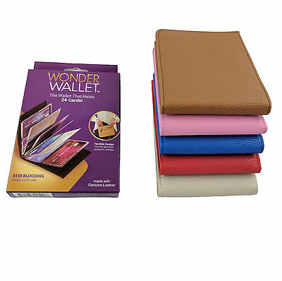 Wonder Wallet - Amazing Slim Genuine RFID Wallets Leather As Seen on TV