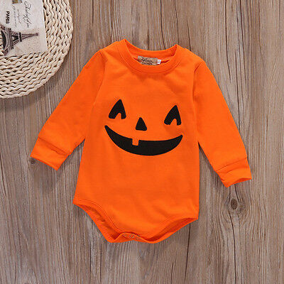 Halloween Newborn Baby Girls Boys Tops Romper +Pants+Hat Outfits Clothes 0-18M