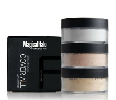 3Colors Face Translucent Smooth Foundation Waterproof Loose Finish Powder Makeup