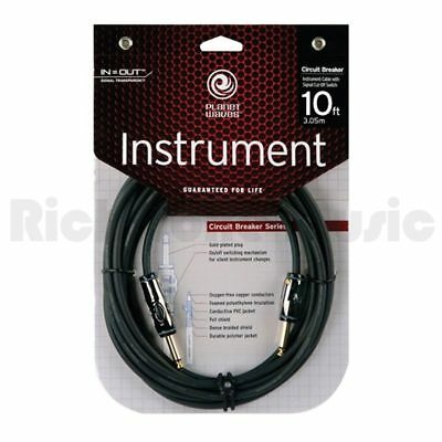 Planet Waves PWAG10 Circuit Breaker 1/4 inch Instrument Cable