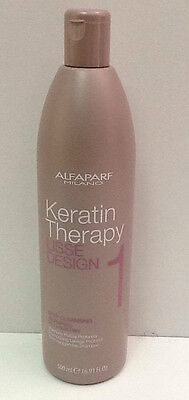Alfaparf Keratin Therapy Lisse Design 1 Shampoo Treatment Pulizia Profonda 500Ml
