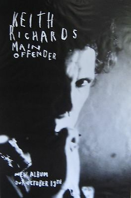 """40x60"""" SUBWAY POSTER~Keith Richards Main Offender 1992 Album Rolling Stones NOS~"""
