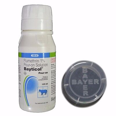 Flumtherin 1% Bayticol Pour-On Solution For Pet Care 100ml