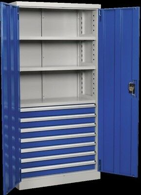 Sealey Industrial Cabinet 7 Drawer 3 Shelf 1800mm APICCOMBO7