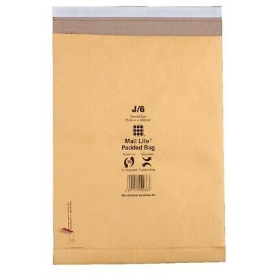 Mail Lite Padded Postal Bag Peel and Seal 365x476mm Pack of 50 MLPB K/7