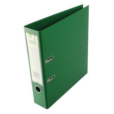Q-Connect Lever Arch File A4 Polypropylene Green Pack of 10
