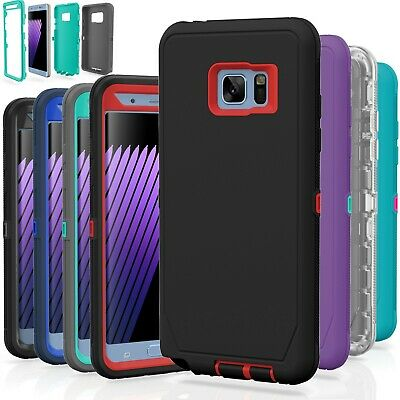 Samsung Galaxy S7 / S7 Edge Case Cover Shockproof Hybrid Hard Rugged Rubber TPU