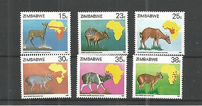 Zimbabwe 1987 Dulikers  Of Africa Survey Sg,718-723 Un/mm Nh Lot 884A