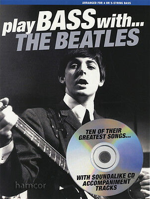 Play Bass Guitar with The Beatles TAB Music Book & Backing Tracks CD