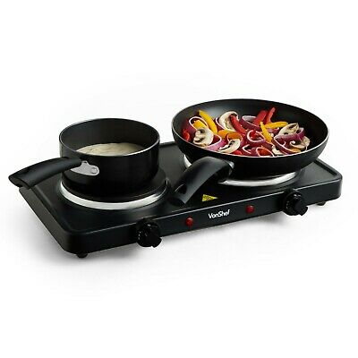 VonShef Hot Plate Single Cooker Hob 1500W Table Top Portable Stainless Steel