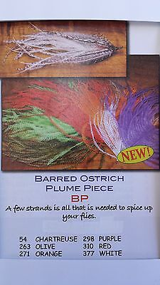 """HARELINE """"BARRED PLUME PIECE"""" 7 colors to chose """"OLIVE""""   FREE SHIPPING"""