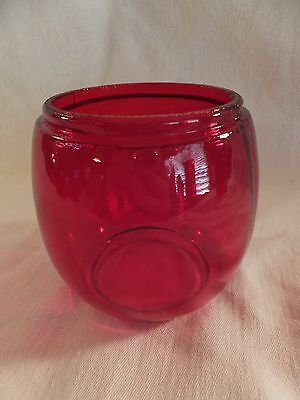 Antique Heavy Glass Ruby RED GLOBE LANTERN-LAMP REPLACEMENT