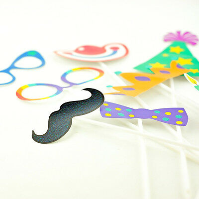 Photo Props Photo Booth Fun Fancy Dress Kids Party Game Birthday - 16 pieces