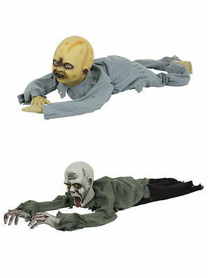 Crawling Horror Zombie Baby Undead Bleeding Male Halloween Party Prop Accessory