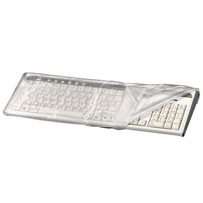 Hama Transparent Computer Keyboard Dust Cover Water Resistant Tear Proof