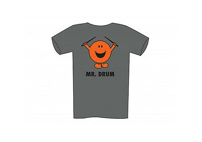 Adult T shirt - Mr Drum - Grey - XLARGE (NEW)