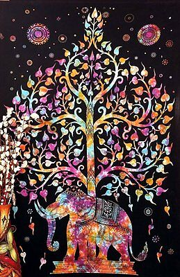 Wall Hanging Indian Tapestry Tree Of Life Psychedelic Decor Hippie Throw Cotton