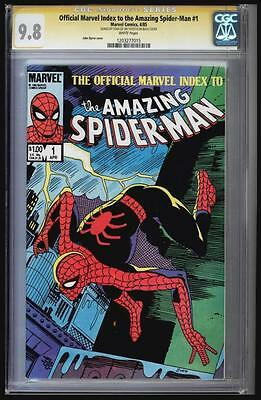 Official Marvel Index To The Amazing Spider-Man #1 Cgc 9.8 Ss Stan Lee