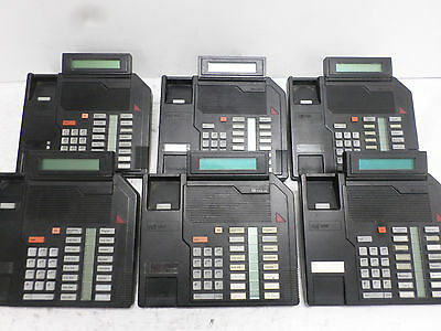 Lot of (6) Northern Telecom Nortel Meridian Phones M2616