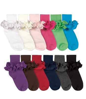 JEFFERIES / COUNTRY KIDS Cotton Ruffle Tutu Ankle Socks NB-10+ YRS